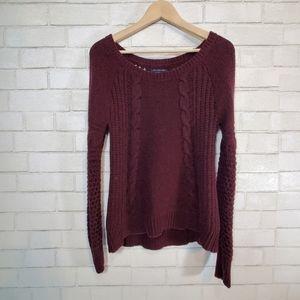 AEO cute purple sweater